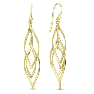 Plated 925 Sterling Silver Swirl Earrings