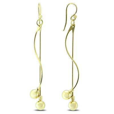 Ball Stud Swirl Drop Earrings in .925 Sterling Silver