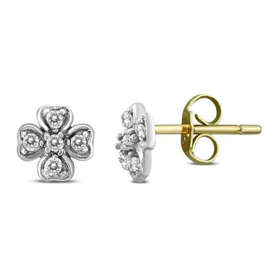 7c491941d7bc6 Diamond Accent Flower Stud Earring in .925 Sterling Silver - ERF57971