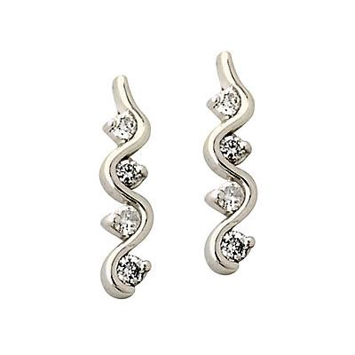 Diamond Earring Set in 10K White Gold