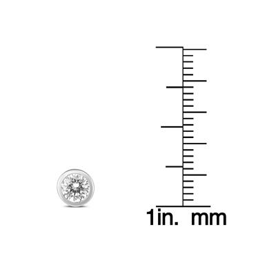 5/8 Carat TW Bezel Diamond Solitaire Earrings in 14K White Gold