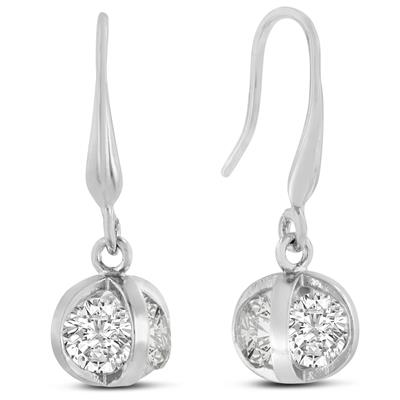 Swarovski Crystal Basket Dangle Earrings, 1 Inch