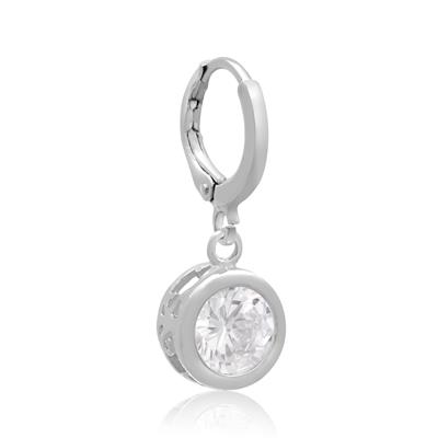 Swarovski Elements Crystal Bezel Set Drop Earrings, 1 Inch