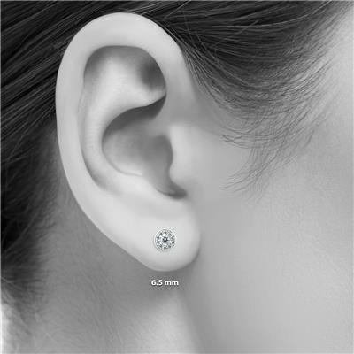 1/3 Carat TW Diamond Halo Earrings in 14K White Gold