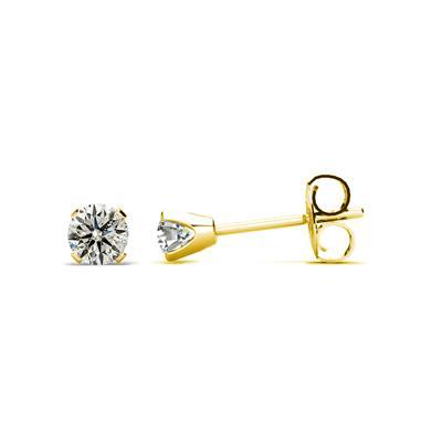 Szul 10 Point Diamond Stud Earrings 14K Yellow Gold Filled