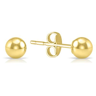 3MM 14K Yellow Gold Filled Round Ball Earrings