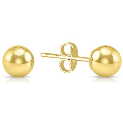 4MM 14K Yellow Gold Filled Round Ball Earrings
