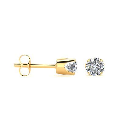 Szul 1/2 Carat TW Round Moissanite Stud Earrings in 14 Karat Yellow Gold