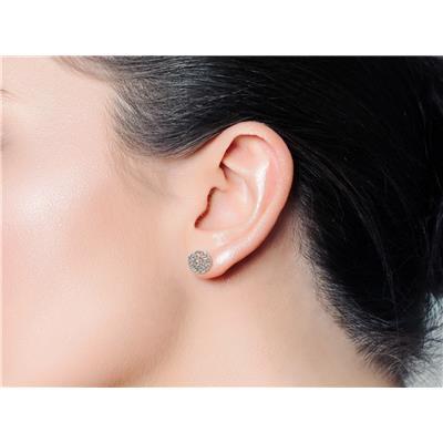 3/4 Carat TW Baguette Diamond Stud Earrings In Sterling Silver