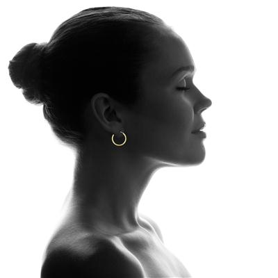 16MM Endless Hoop Earrings in 14k Yellow Gold