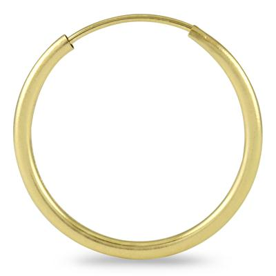 18MM Hoop Earrings in 14k Yellow Gold