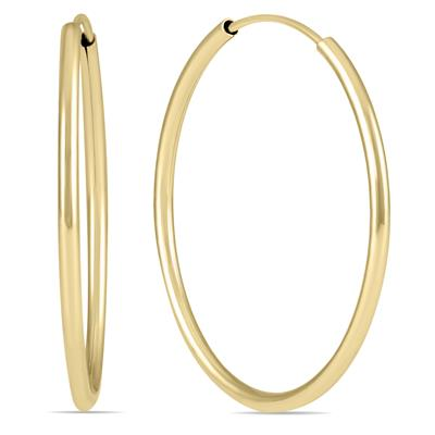 25MM Hoop Earrings in 14k Yellow Gold