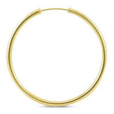 40MM Hoop Earrings in 14k Yellow Gold