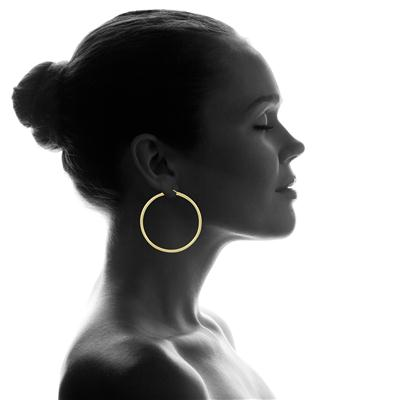 14K Yellow Gold Filled Hoop Earrings (50mm)
