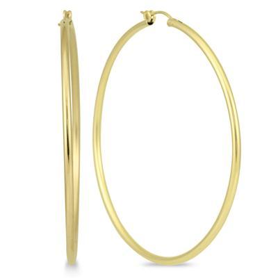 14K Yellow Gold Filled Hoop Earrings (62mm)
