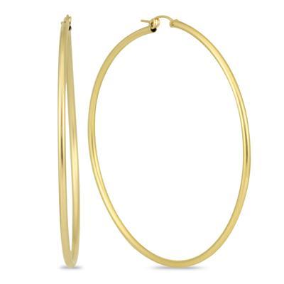 14K Yellow Gold Filled Hoop Earrings (76mm)
