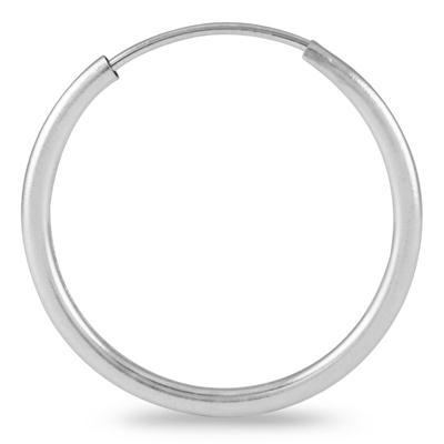18MM Hoop Earrings in 14k White Gold