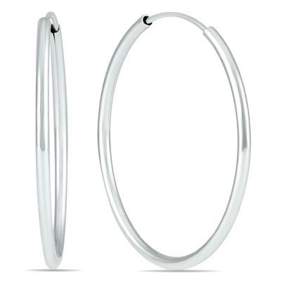 25MM Hoop Earrings in 14k White Gold