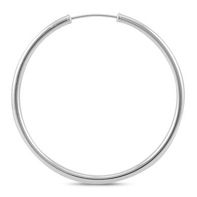 40MM Hoop Earrings in 14k White Gold