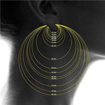 50MM Endless Hoop Earrings 14k White Gold
