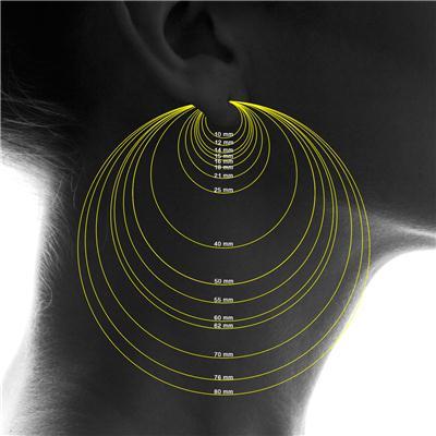 60MM Endless Hoop Earrings 14k White Gold