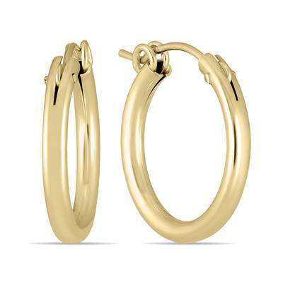 14K Yellow Gold Filled Hoop Earrings (19mm)