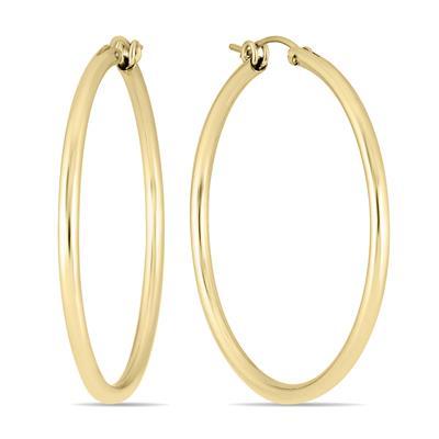 14K Yellow Gold Filled Hoop Earrings (41mm)