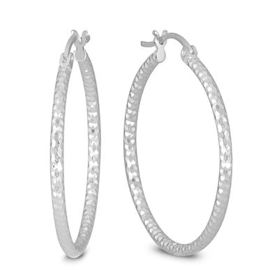 30MM Hoop Earrings In .925 Sterling Silver