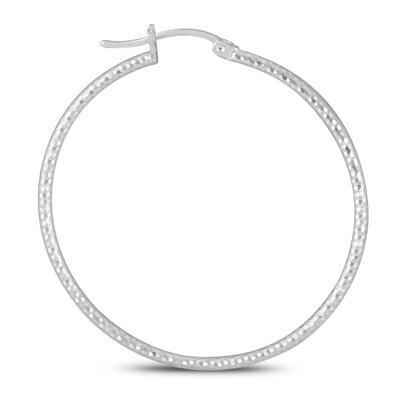 40MM Hoop Earrings In .925 Sterling Silver
