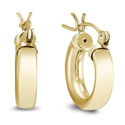 12mm 14K Yellow Gold Filled Hoop Earrings