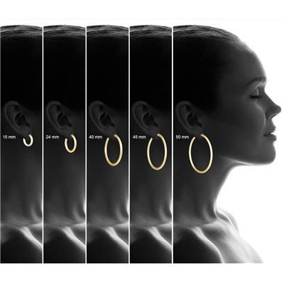 15MM 14K Yellow Gold Filled Hoop Earrings (3mm Gauge)