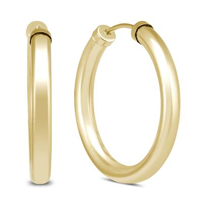24MM 14K Yellow Gold Filled Endless Hoop Earrings (3mm Gauge)
