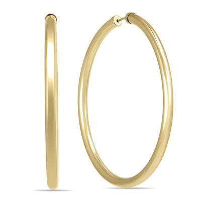 45MM 14K Yellow Gold Filled Endless Hoop Earrings (3mm Gauge)