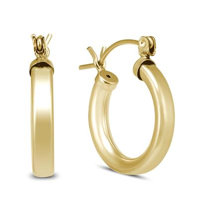 15mm 14K Yellow Gold Filled Hoop Earrings