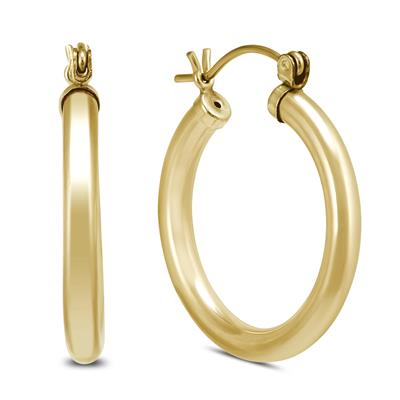 24mm 14K Yellow Gold Filled Hoop Earrings