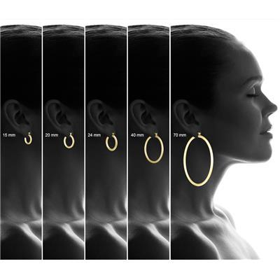 40mm 14K Yellow Gold Filled Hoop Earrings