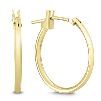 14K Yellow Gold 18MM Hoop Earrings (1.5MM Gage)
