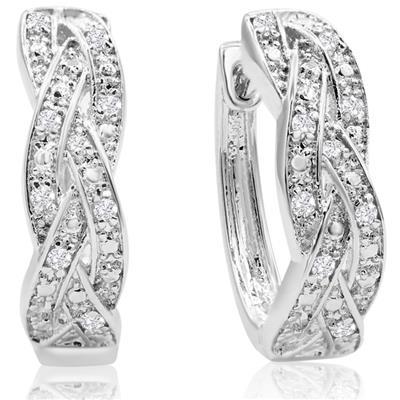 1/4 Carat TW Oval Diamond Infinity Hoop Earrings