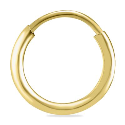 10mm Endless 14K Yellow Gold Filled Thin Huggie Hoop Earrings