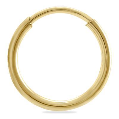 12mm Endless 14K Yellow Gold Filled Thin Huggie Hoop Earrings