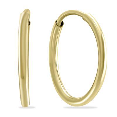 1/2 Inch Endless 14K Yellow Gold Filled Thin Huggie Hoop Earrings