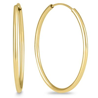 1 Inch Endless 14K Yellow Gold Filled Hoop Earrings
