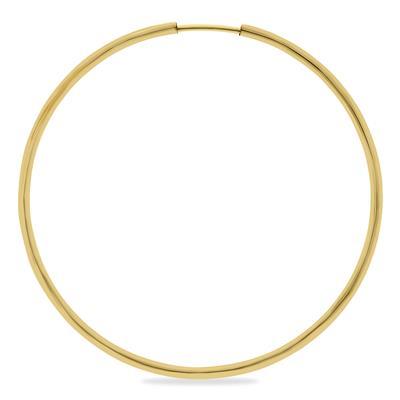 1 3/4 Inch Endless 14K Yellow Gold Filled Hoop Earrings