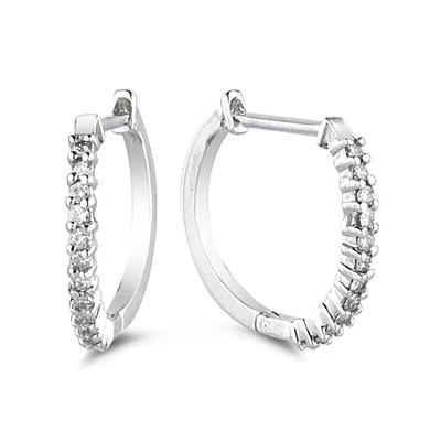.50CTW Diamond Hoop Earrings in White Gold
