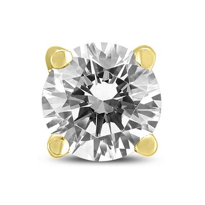 1/4 Carat Round Single Solitaire Stud Diamond Earring in 14K Yellow Gold