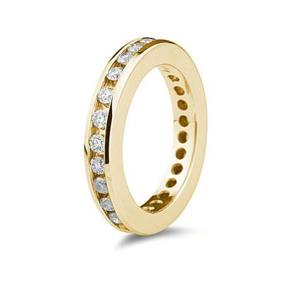 1CT Diamond Eternity Ring in 18k Yellow Gold