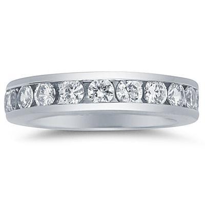 1.50 Carat Diamond Eternity Ring in 14k White Gold