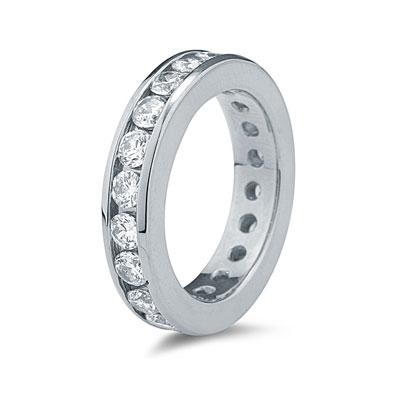 3.00 Carat Diamond Eternity Ring in 14k White Gold