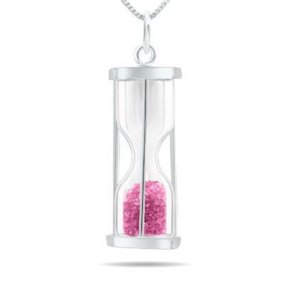 Szul 3/4 Carat Tourmaline birthstone Hourglass Pendant Necklace