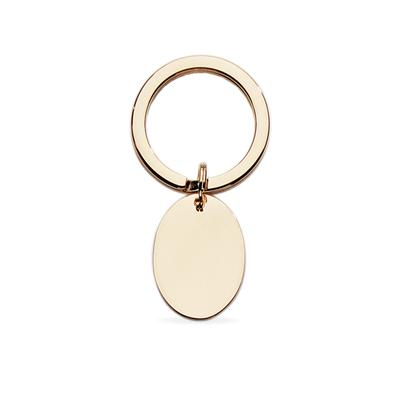 Polished Gold Plated Oval Key Ring